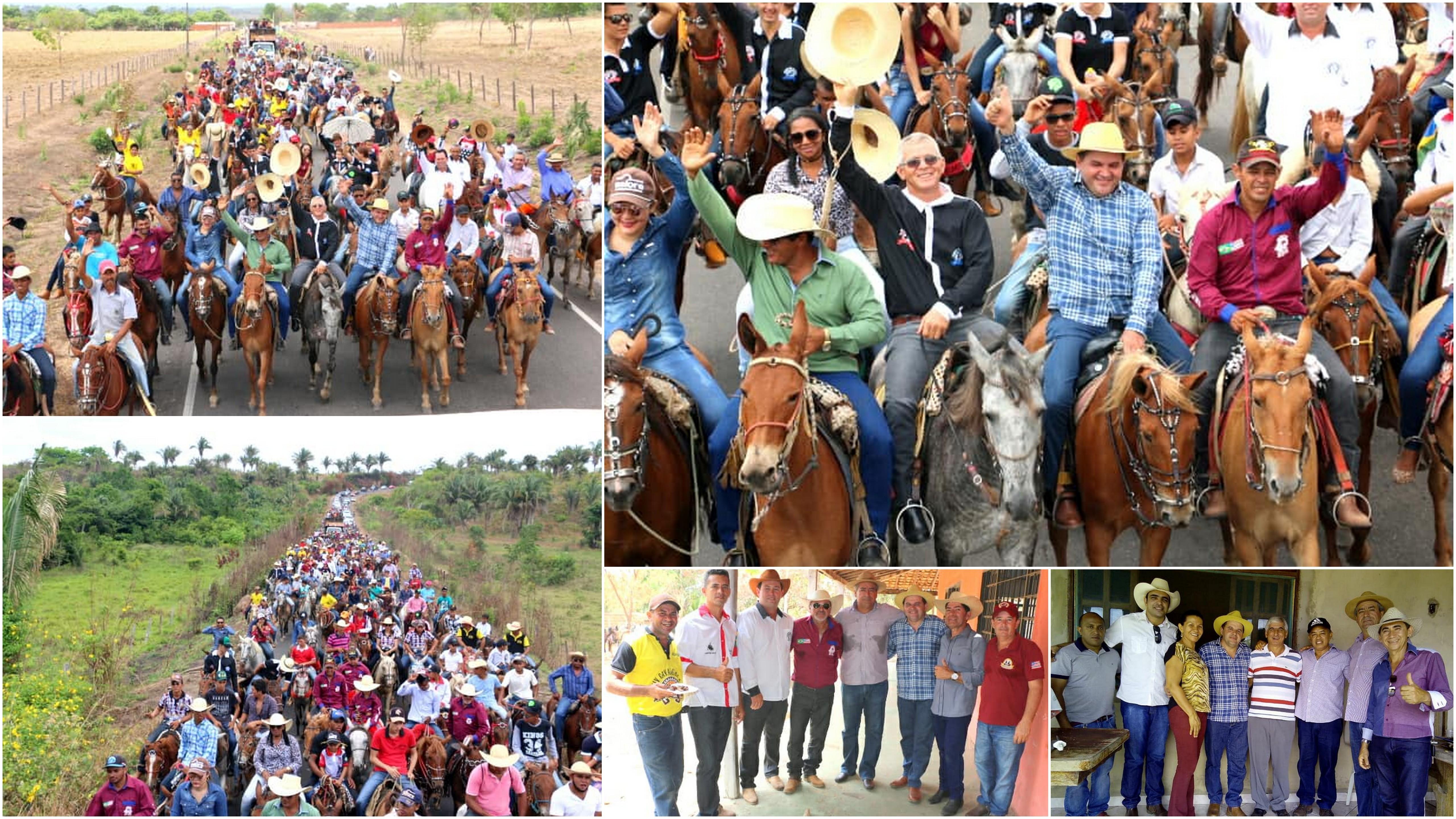 Prefeitura apoia realização da  1ª cavalgada do Centro Novo