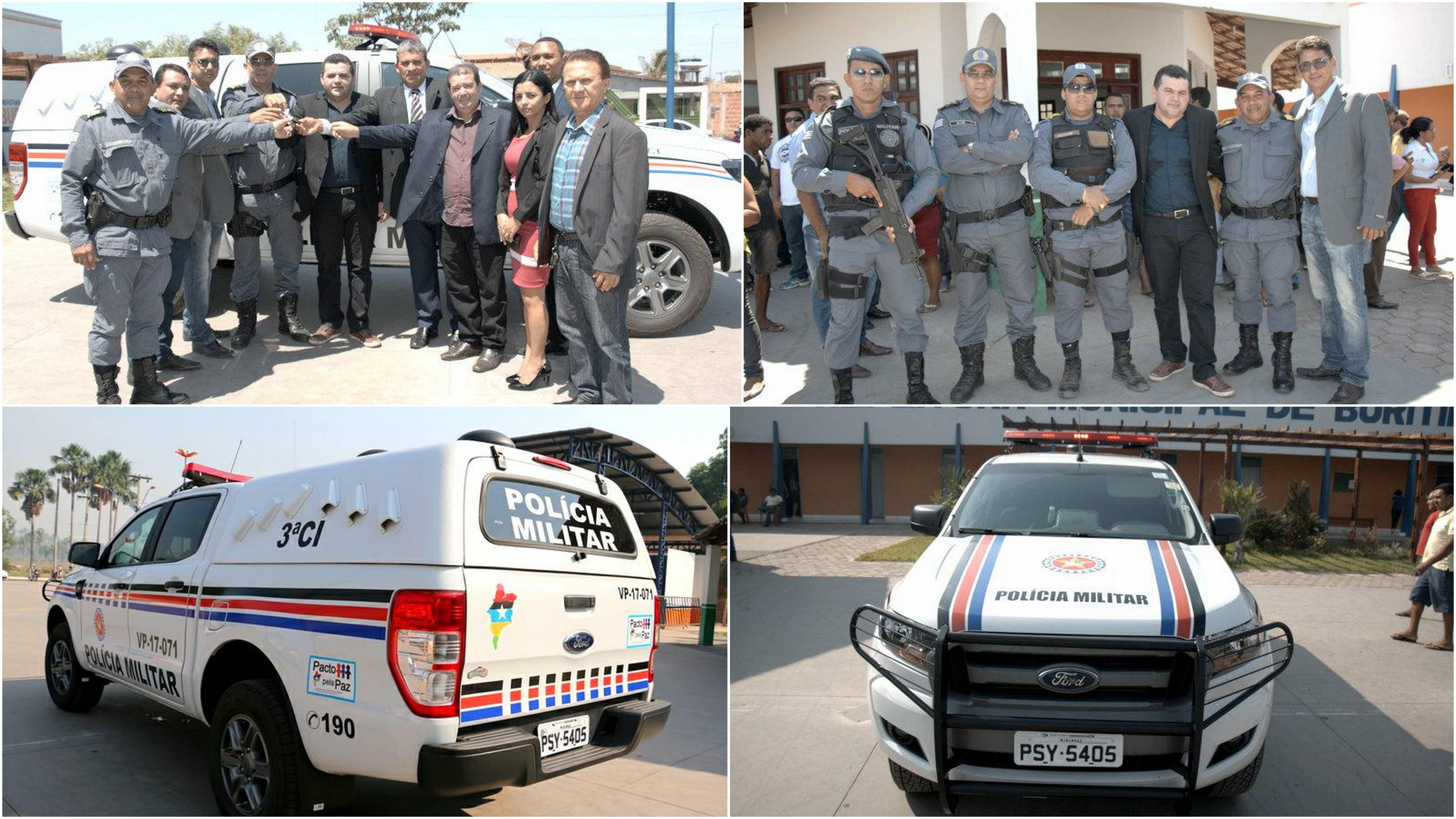 Buritirana recebe uma viatura para Polícia Militar