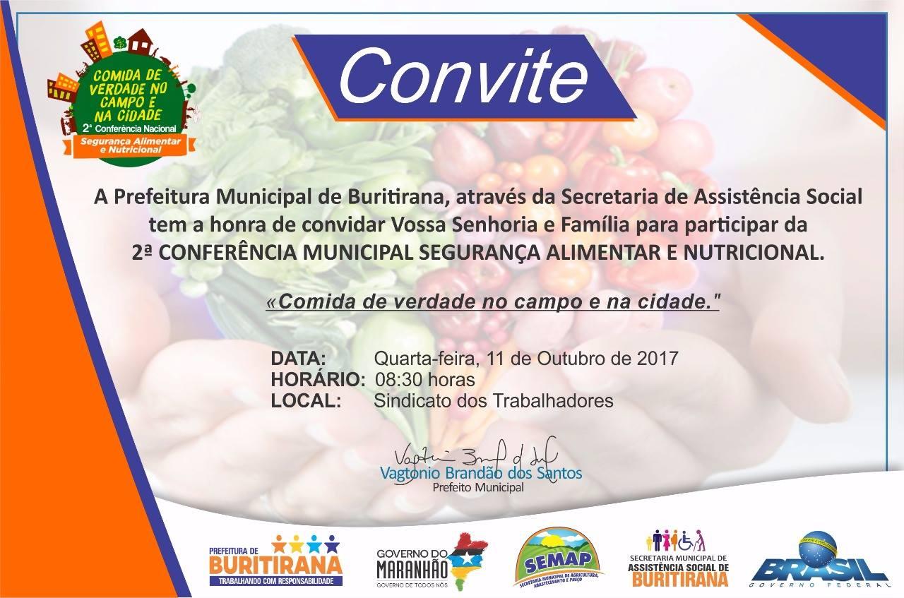 Buritirana realizará 2ª Conferência Municipal de Assistência Social