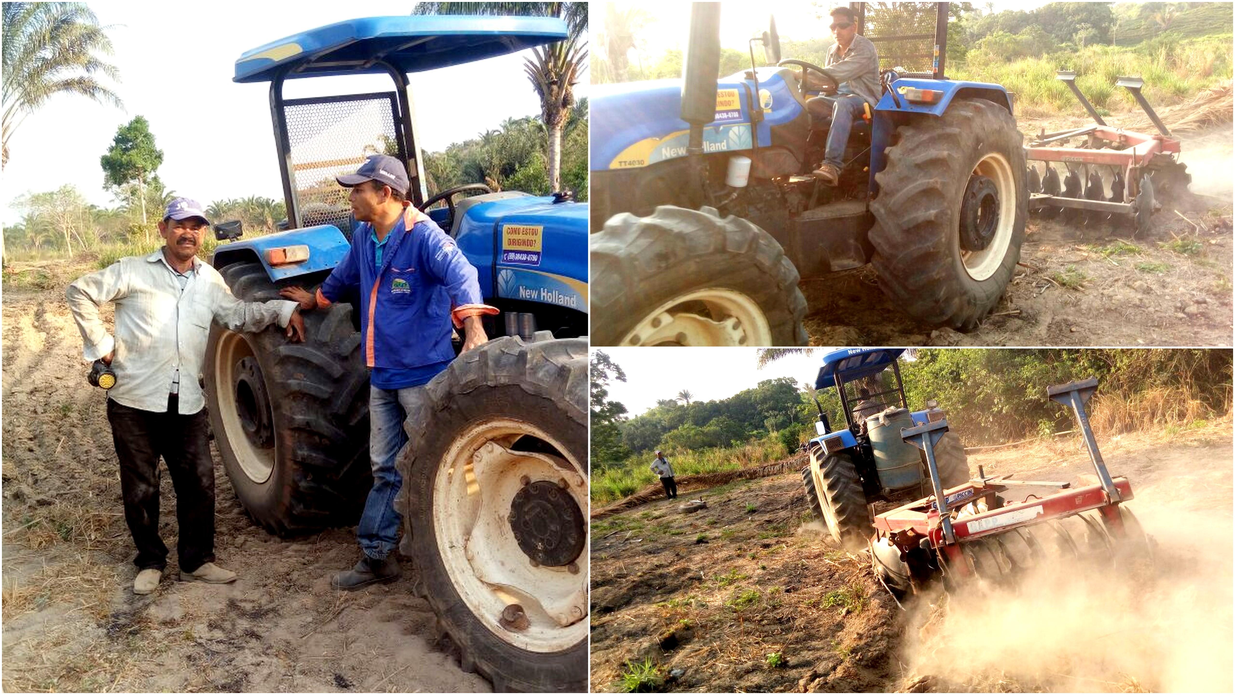 """Prefeitura realiza gradeação de terras e fortalece o """"Cadeias Produtivas"""""""